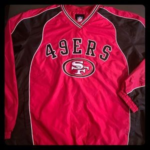 San Francisco 49ers Pullover - Authentic NFL Large